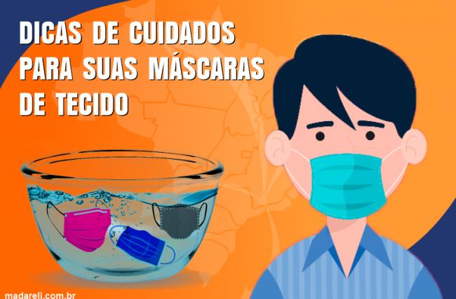Dicas para higienização de máscaras de tecido de forma segura